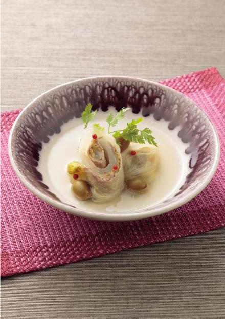 豚肉の白菜ロール オリーブ煮