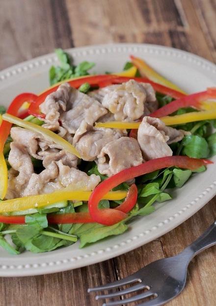 豚肉とクレソンのあっさりおかずサラダ