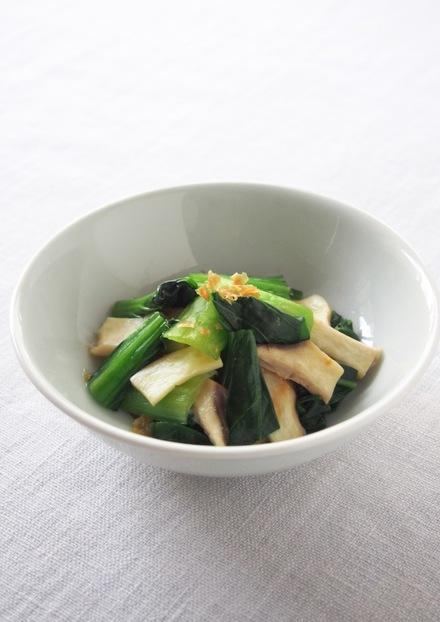 簡単 小松菜とエリンギのおひたし