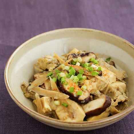 豆腐とごぼうの卵とじ
