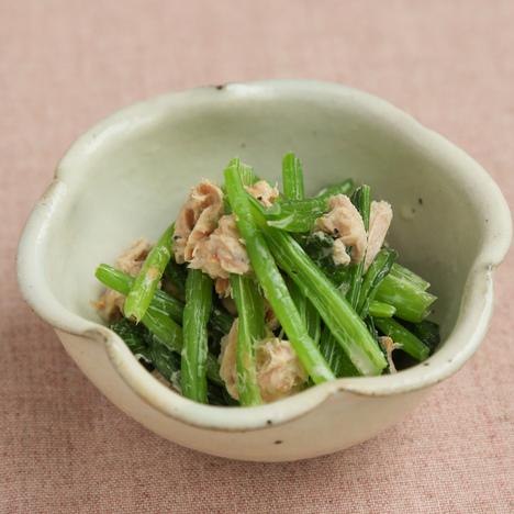 小松菜とツナの和風サラダ