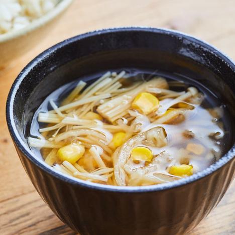 切り干し大根とコーンの中華スープ
