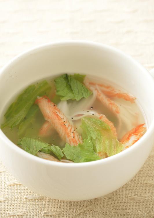 カニカマレタススープ