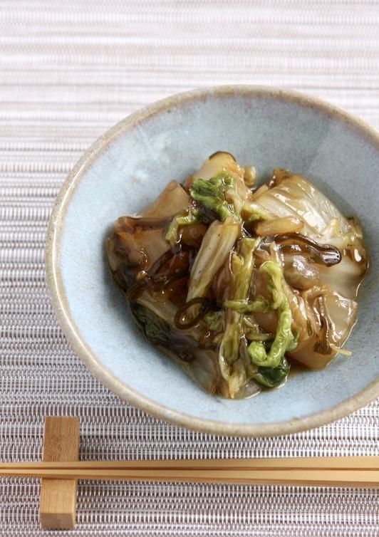 白菜と塩昆布のとろみ煮
