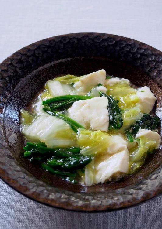 簡単 ほっこり白菜豆腐中華煮