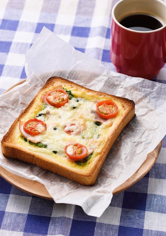食パンで簡単キッシュ風