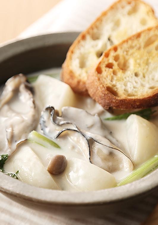 牡蠣とかぶのクリーム煮