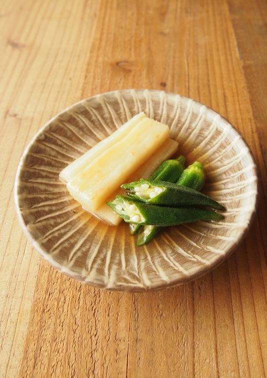 オクラと長芋の焼き浸し