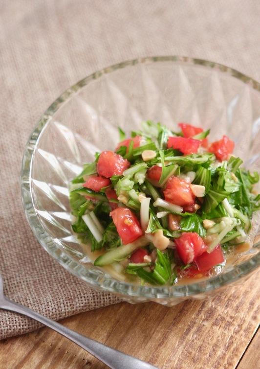 水菜のねばねばサラダ