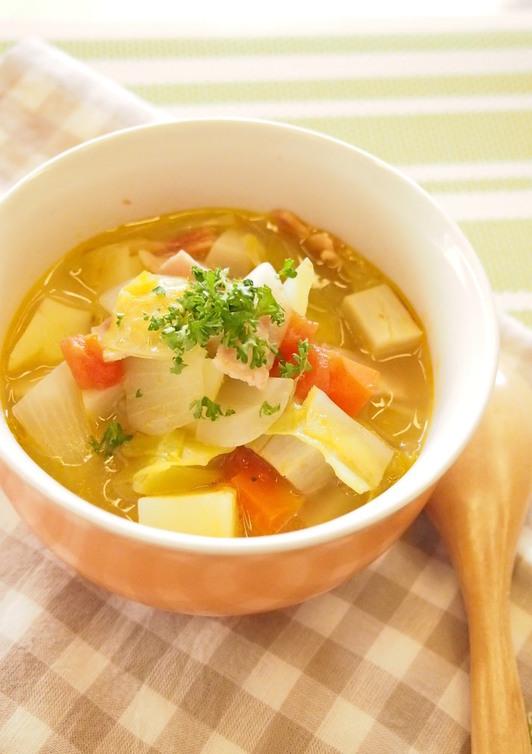 コンソメで簡単 野菜スープ