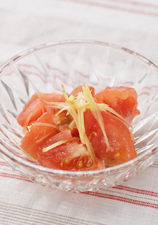 トマトの酢しょうがあえ
