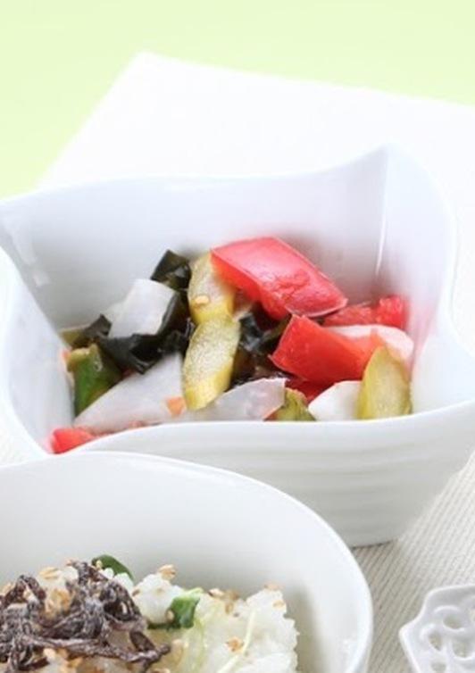 カラフル野菜の梅酢和え