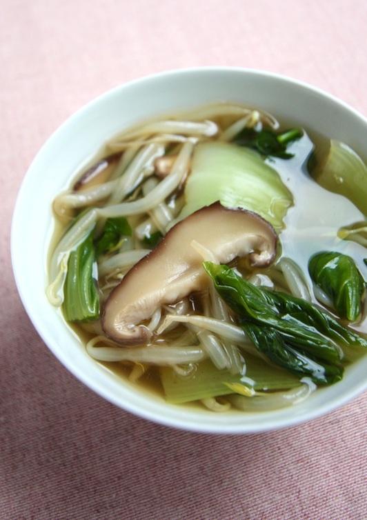 もやしの具だくさん中華スープ