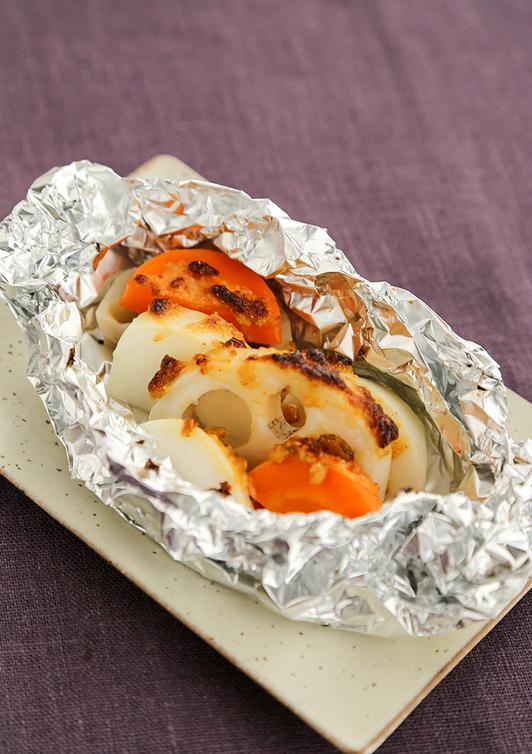 根菜のホイル焼き みそマヨだれ