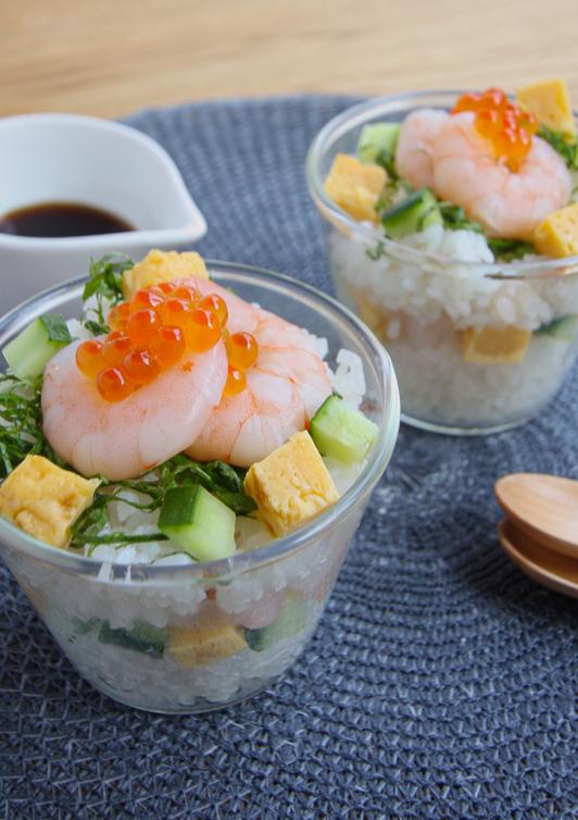 華やか カクテル寿司