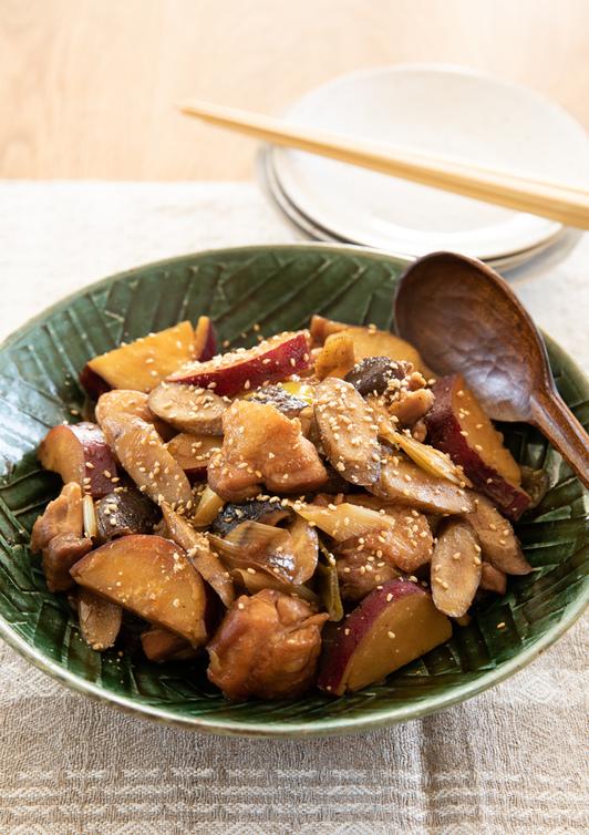 鶏肉と根菜の煮物