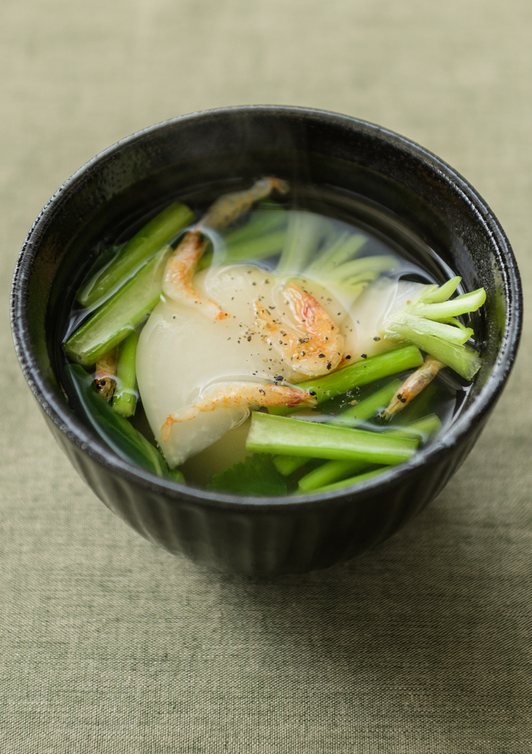 かぶと桜えびの中華スープ