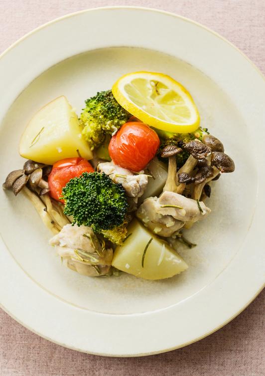 鶏肉と野菜のハーブレモン焼き
