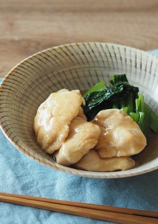 鶏肉と小松菜の治部煮