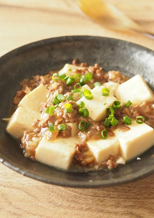 豆腐とひき肉の塩麻婆
