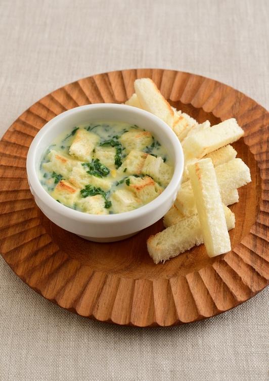 【離乳食・後期】クリームコーンひたパン