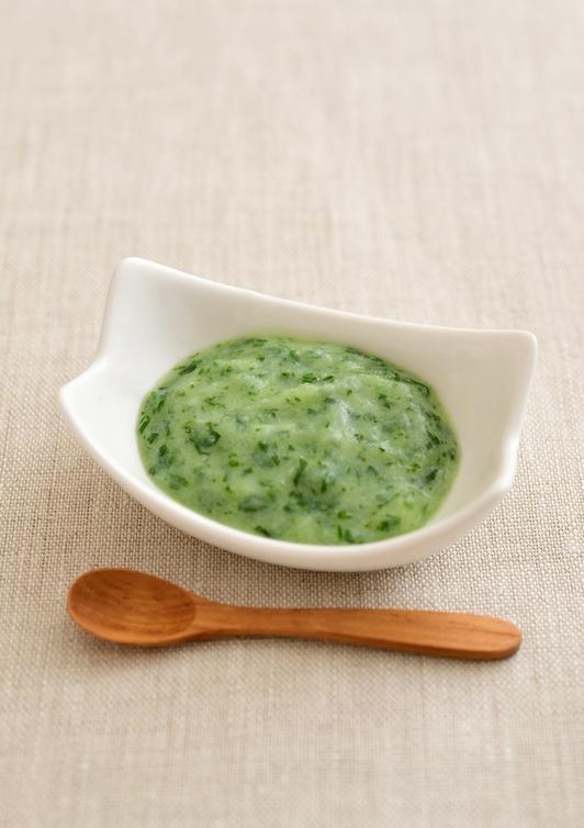 【離乳食・初期】たら・小松菜・じゃがいもペースト