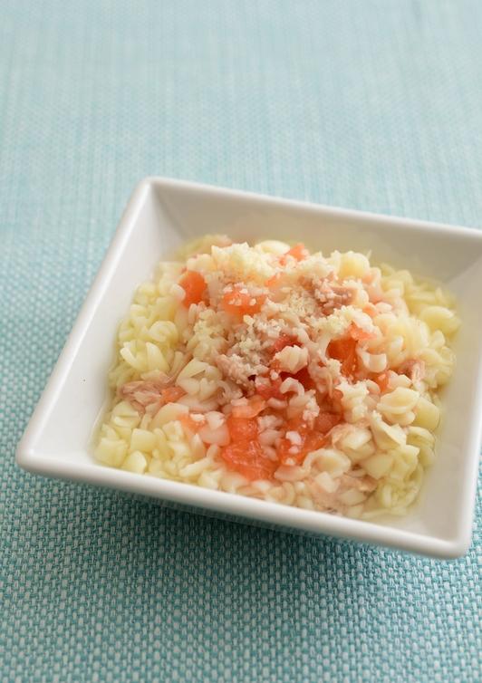 【離乳食・中期】ツナトマトパスタ