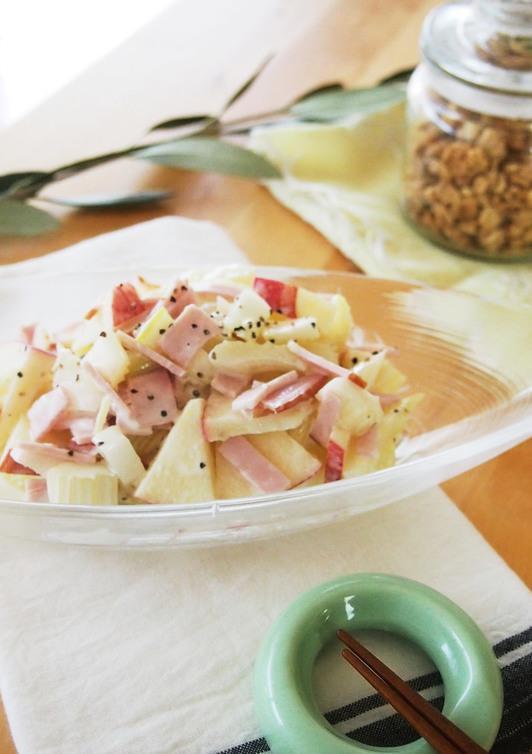 農家のレシピ セロリとりんごのサラダ