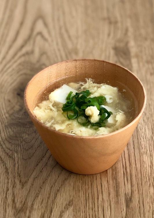 ほっこりとろり 豆腐と玉子の簡単スープ