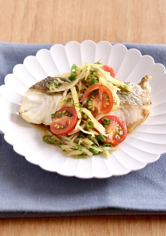 夏バテ解消 切り身魚の香味野菜ソース