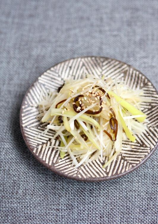 ねぎと塩昆布のサラダ