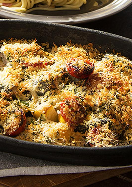 イワシと彩り野菜の香草焼き