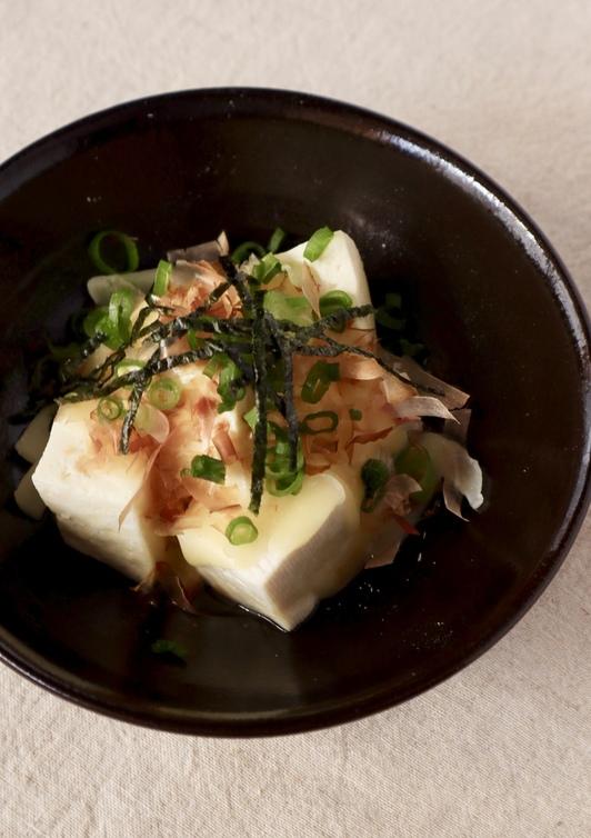 電子レンジ ふわとろ豆腐チーズおかか