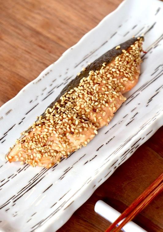 お弁当 朝ごはんに 鮭の胡麻胡麻焼き
