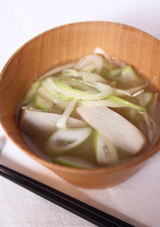 ねぎと里芋の味噌汁 風邪予防