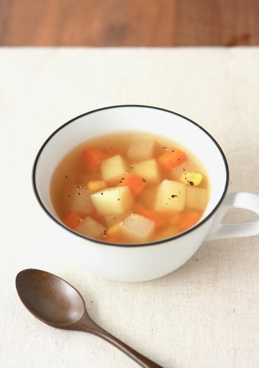 簡単 野菜たっぷりコンソメスープ