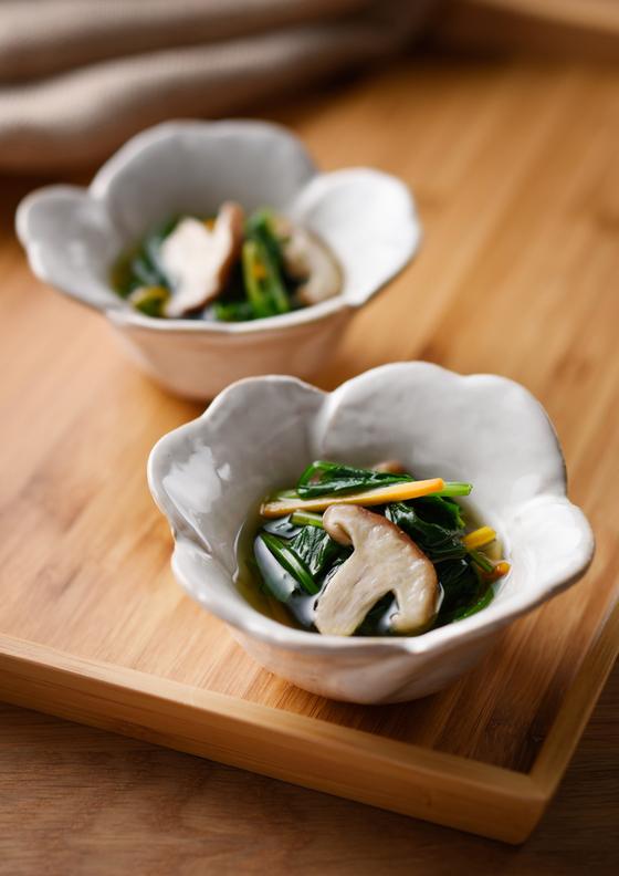 つゆまで飲める 青菜のさっと煮