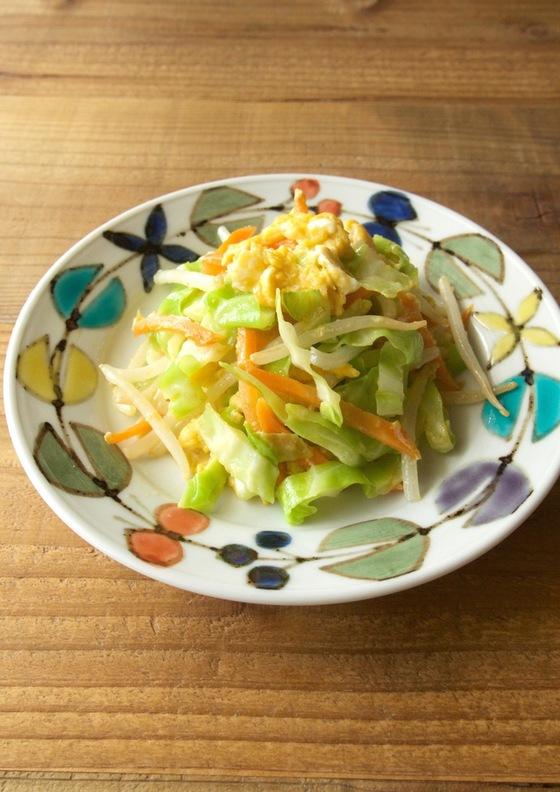 野菜と卵の中華風炒めもの