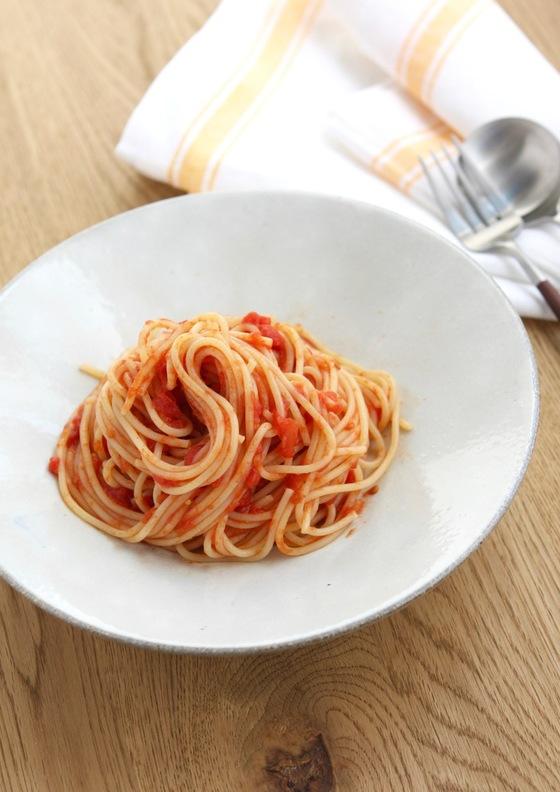 びっくり簡単トマトソーススパゲッティ