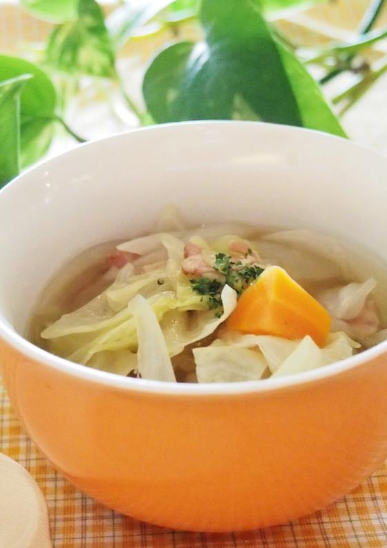 大根とキャベツのあっさりスープ