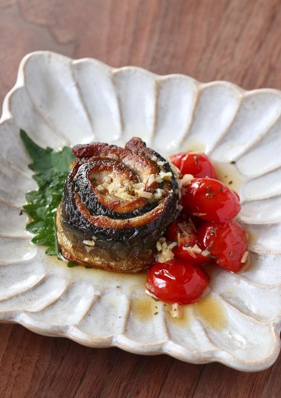 秋刀魚のガーリックステーキ