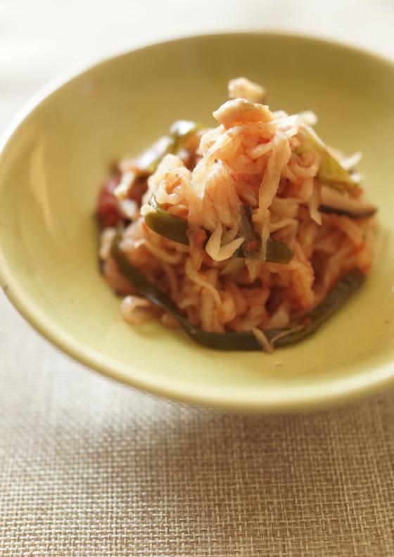 トマト缶で 切干大根の煮物