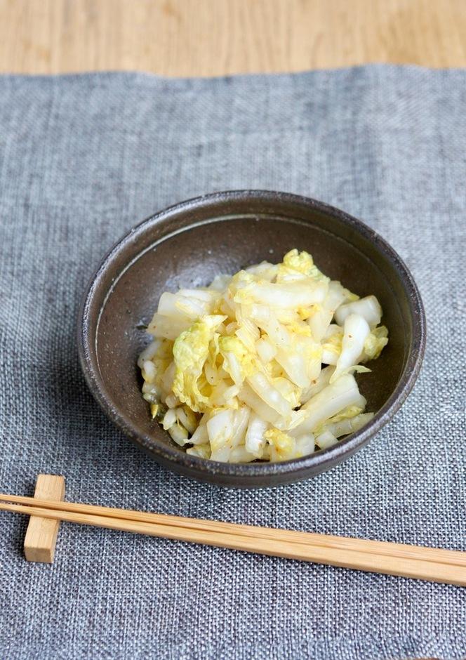 白菜の昆布茶和えにんにく風味