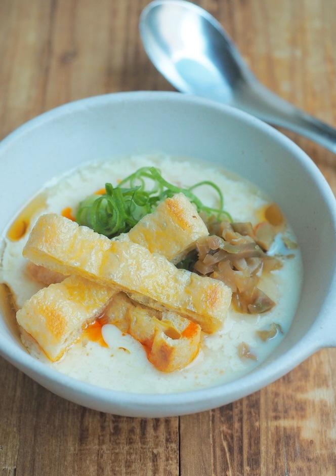 シェントウジャン(豆乳と黒酢の中華風スープ)