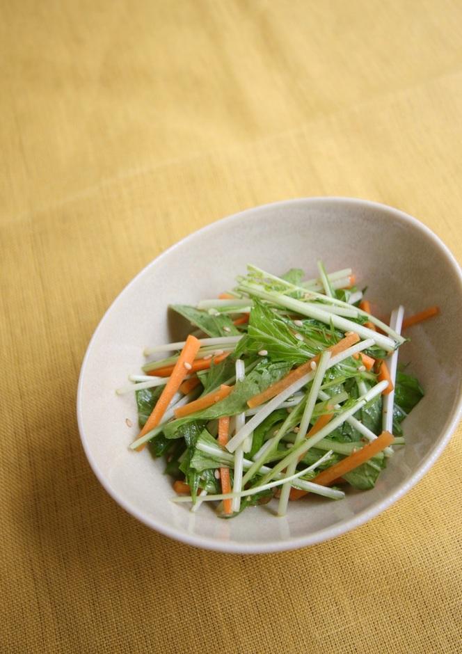 水菜とにんじんの中華あえ