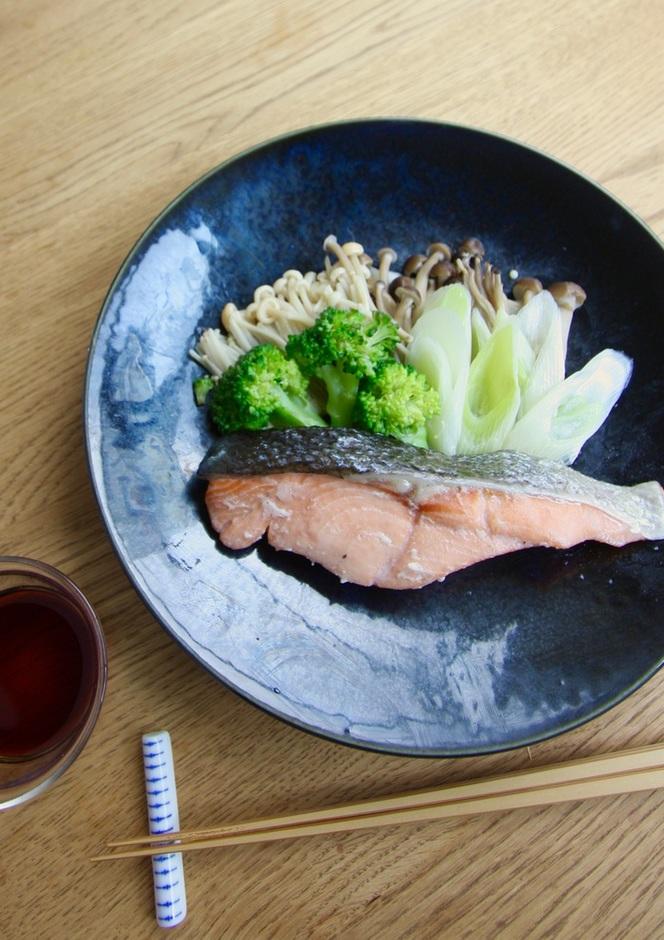 鮭と野菜のレンジ蒸し