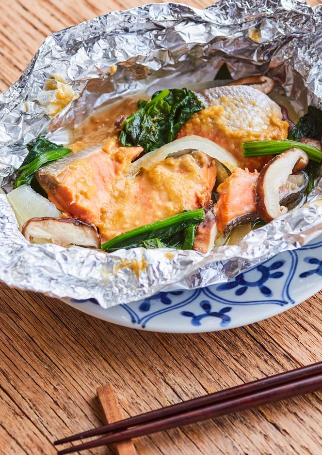 鮭のみそマヨホイル焼き