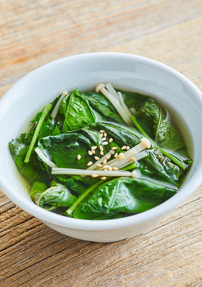 モロヘイヤの中華スープ