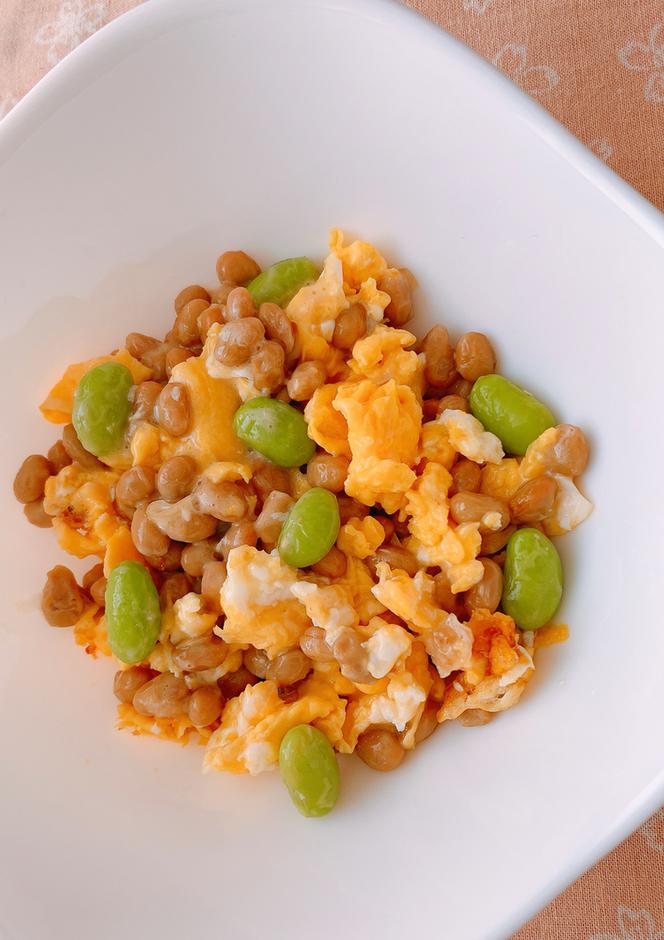 大豆製品の卵とじ