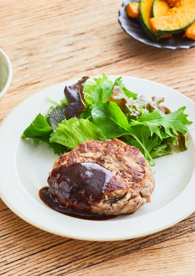 食べ応え満点 ごぼうのハンバーグ